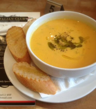 The Italian Club: Always a freshly made SOUP OF THE DAY!
