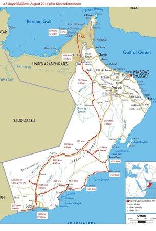 Arabian Oryx Sanctuary : How we drove to Jaaluni Oryx farm