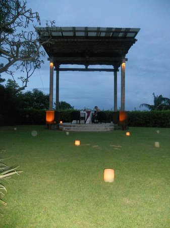 AYANA Resort and Spa:                   Private Gazebo for romantic dinner