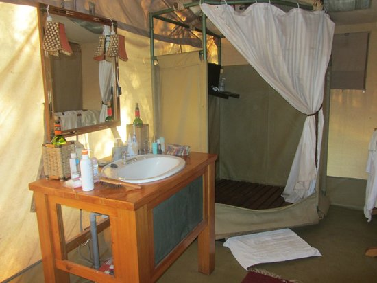Porini Amboseli Camp:                   Amazing bathroom for the middle of the savannah
