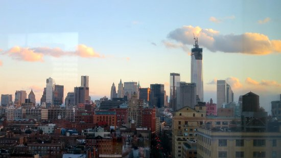 The Standard, High Line:                   view looking south--new World Trade Center