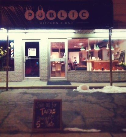 Public Kitchen & Bar :                   Public street front