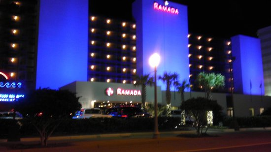 Ramada Virginia Beach Oceanfront :                   ramada at night Beautiful