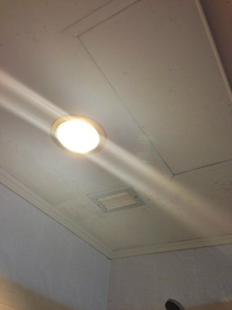 Wang Tai Hotel:                   dirty ceiling