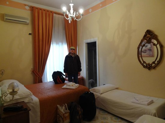 Hotel Amleto:                   Room for 4 persons (2 adults, 2 kids) on 1st floor above lobby