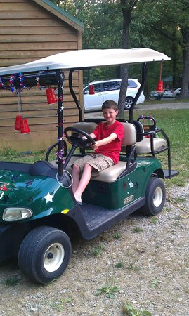 "Lake Rudolph Campground & RV Resort:                                     golf cart "" red solo cup stars"""