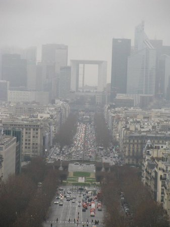 Sofitel Paris La Défense: View of La Défense from Arc de Triomphe