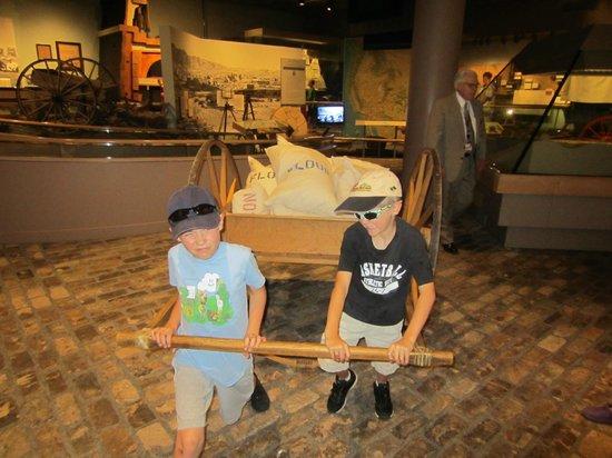 Church History Museum :                   Pulling a handcart