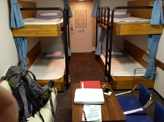 Tokyo Central Youth Hostel:                   our private room but bunk is all they had available but it was all ours! bathr
