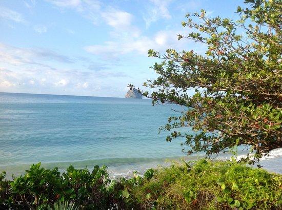 Diamant Beach:                                     Toujours depuis le balcon