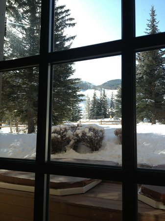 Tivoli Lodge:                   view from lodge at Vail ski area
