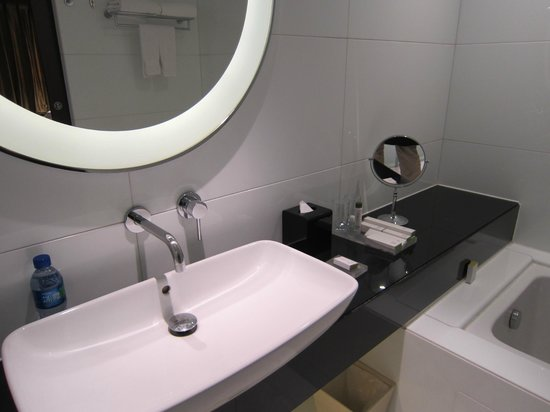 Doubletree by Hilton Beijing:                   Bathroom sink.