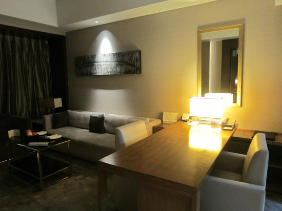 DoubleTree by Hilton Beijing:                   Living area in our suite.
