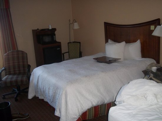 Hampton Inn Henderson :                                     The new duvets look like they have acne, but they are really