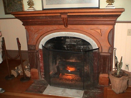 Hughes Historic House: The main fireplace