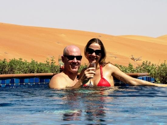 Al Maha, A Luxury Collection Desert Resort & Spa:                                     Happy couple