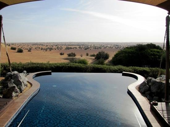Al Maha, A Luxury Collection Desert Resort & Spa:                                     Dusk from suite #4