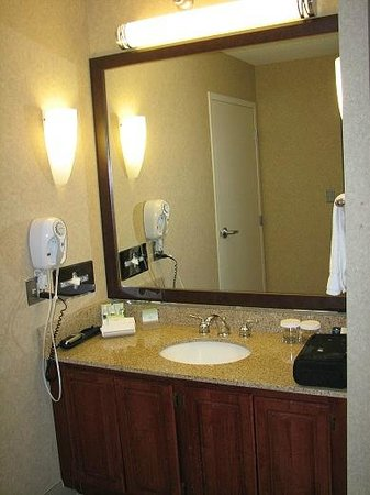 Homewood Suites by Hilton Chicago-Downtown:                   Bedroom with two doubles in 1 bedroom suite, sink counter outside the bathroom