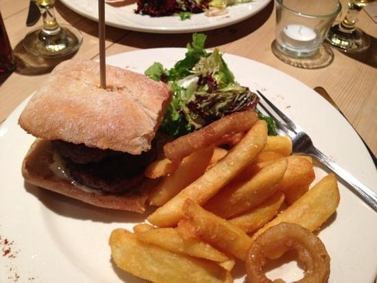 Masons Bar & Bistro:                   lamb and mint burger ...delicious!