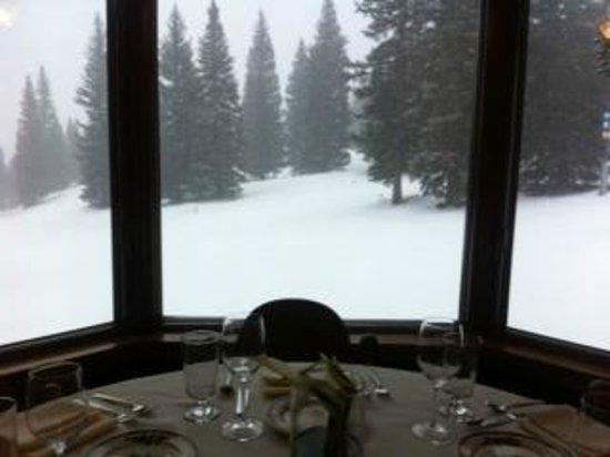 Gwyn's High Alpine Restaurant:                   View from the fine dinning restaurant