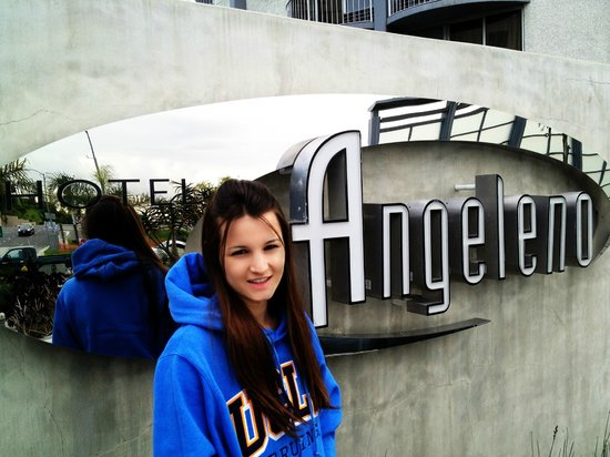 Hotel Angeleno:                   Picture of the Sign
