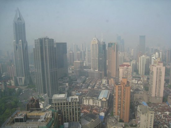 Radisson Blu Hotel Shanghai New World: The view from our room