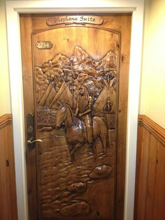 The Wort Hotel:                   Door to our room