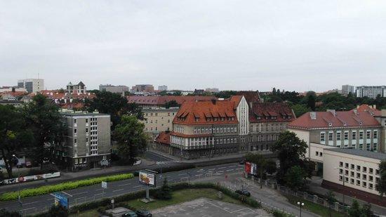 Ikar Hotel:                   from the room window