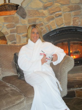 Winston Lodge Spa: Sit in front of the fire with a hot tea