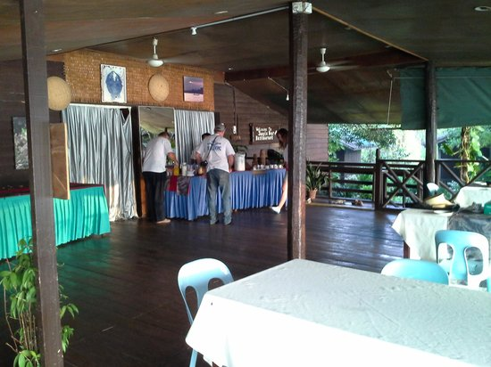 Sukau River Lodge: dining