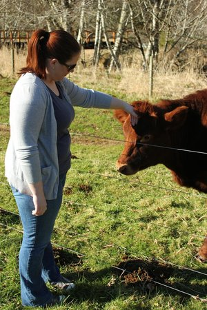 The Inn At Crippen Creek Farm :                   Making friends
