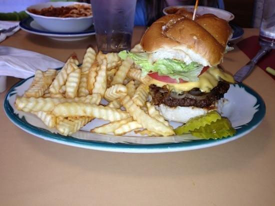 Aunt Sandy's Diner:                   onion burger special