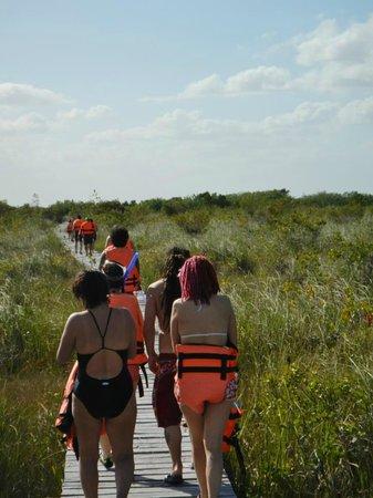 Sian Ka'an Biosphere Reserve: de regreso hacia la lancha, por un bonito puente