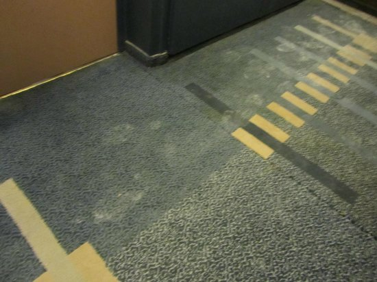 Jerusalem Gardens Hotel & Spa:                   View of dirty corridor carpet at 11PM