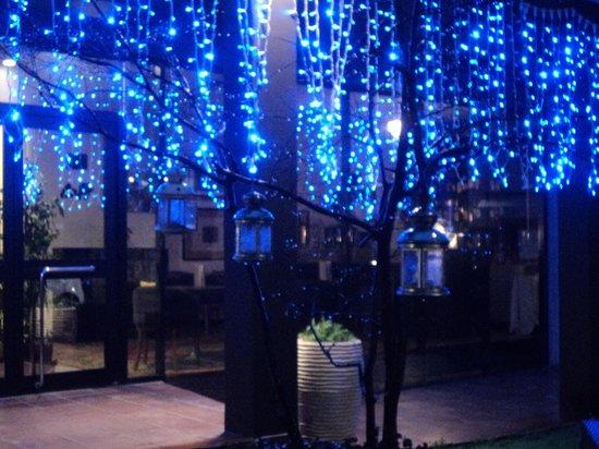 Hotel Tosco Romagnolo :                   Un dopo cena all'aria aperta...