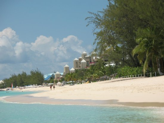 The Ritz-Carlton, Grand Cayman:                   Hotel and Beach Area From A Distance