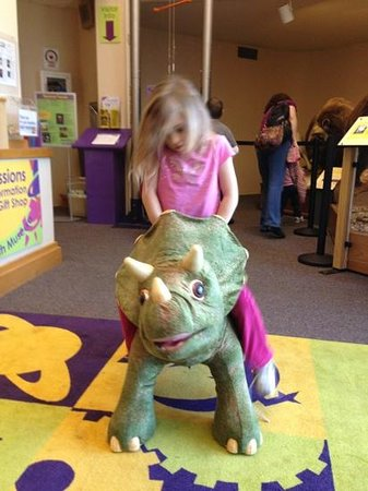 North Museum of Nature and Science:                   Dino ride!