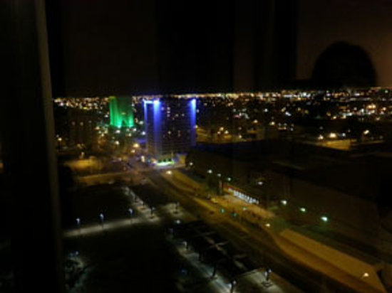 Hyatt Regency Albuquerque:                   The city view from our room.