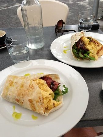 Fox on the Quay:                   breakfast burritos!!  rare in nz