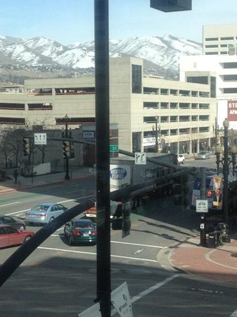 Marriott Salt Lake City City Center:                   view from treadmill!