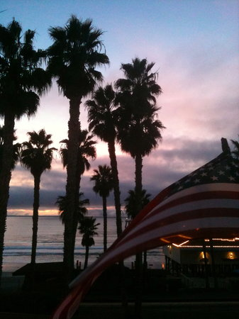 Patriotic San Clemente Sunset, from the Casa Tropicana deck