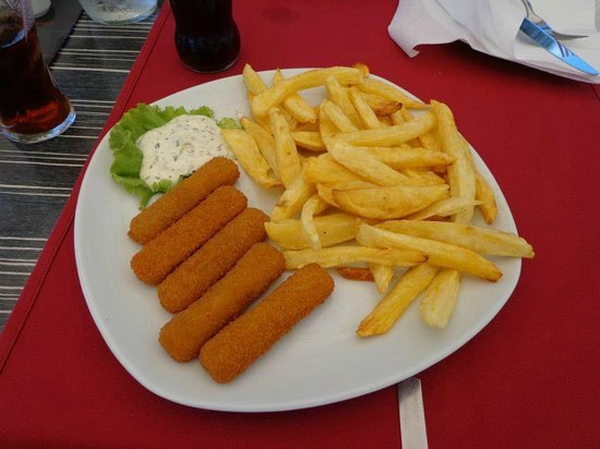 The Maritimo Hotel:                   Fish and chips