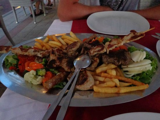 The Maritimo Hotel:                   Mixed meat platter
