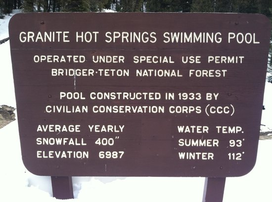 Granite Hot Springs:                   Forestry Sign