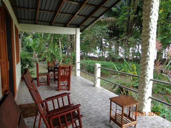 Coconut Grove Oceanfront Cottages:                   Our front porch