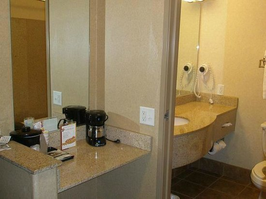 Quality Inn And Suites: Sink and 'mirror area'