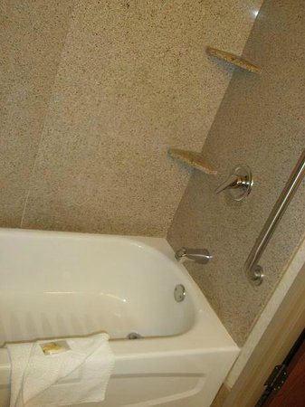 Quality Inn And Suites: Tub, (NOTE: the walls are NOT plastic)
