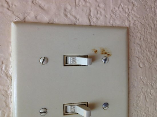 Microtel Inn & Suites by Wyndham Houston:                                     Gross light switch cover in the bathroom.