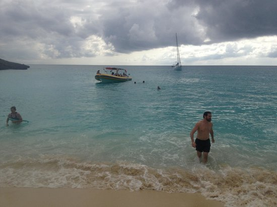 Power Rafting by Out Island Charters:                   Stopping at the beach after snorkeling.