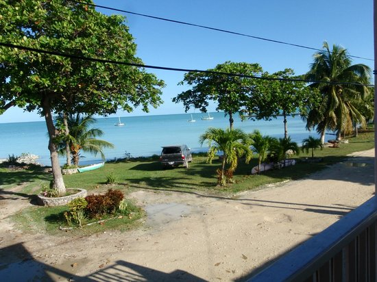 Fernando's Seaside Guesthouse:                   Corozal Bay, seen from the veranda